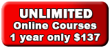 Unlimited Online Courses for 1 year at $139